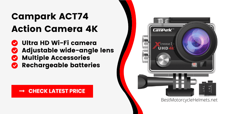 Campark ACT74 Action Camera 4K
