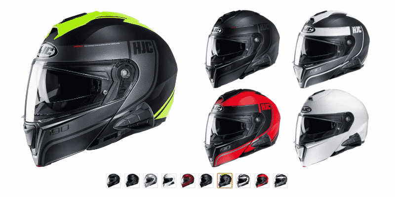 HJC i90 Modular Motorcycle Helmet With Sena 10B Bluetooth Headset Davan MC3HSF