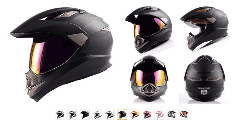 1Storm Dual Sport Helmet Motorcycle Full Face Motocross Off Road Bike