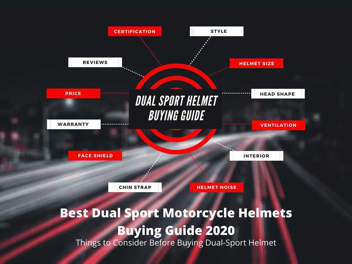 Dual Sport Motorcycle Helmet Buying Guide - Infographic