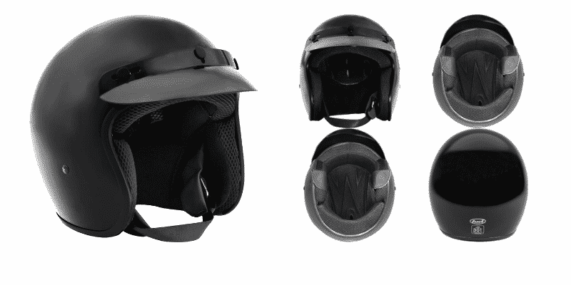 Fuel Helmets SH-OF0015 Unisex-Adult O5 Series Open Face Helmet