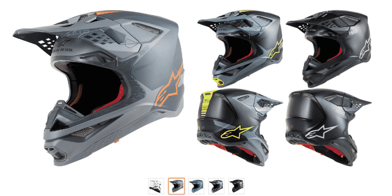 Alpinestars Supertech S-M10 Solid Off-Road Motocross Helmet