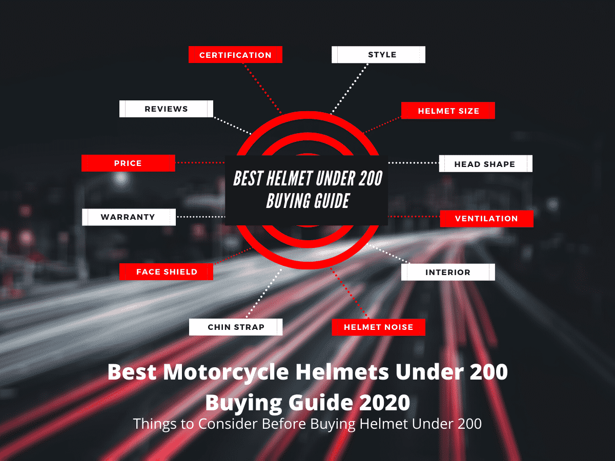 Best Motorcycle Helmet Under 200 Buying Guide - Infographic