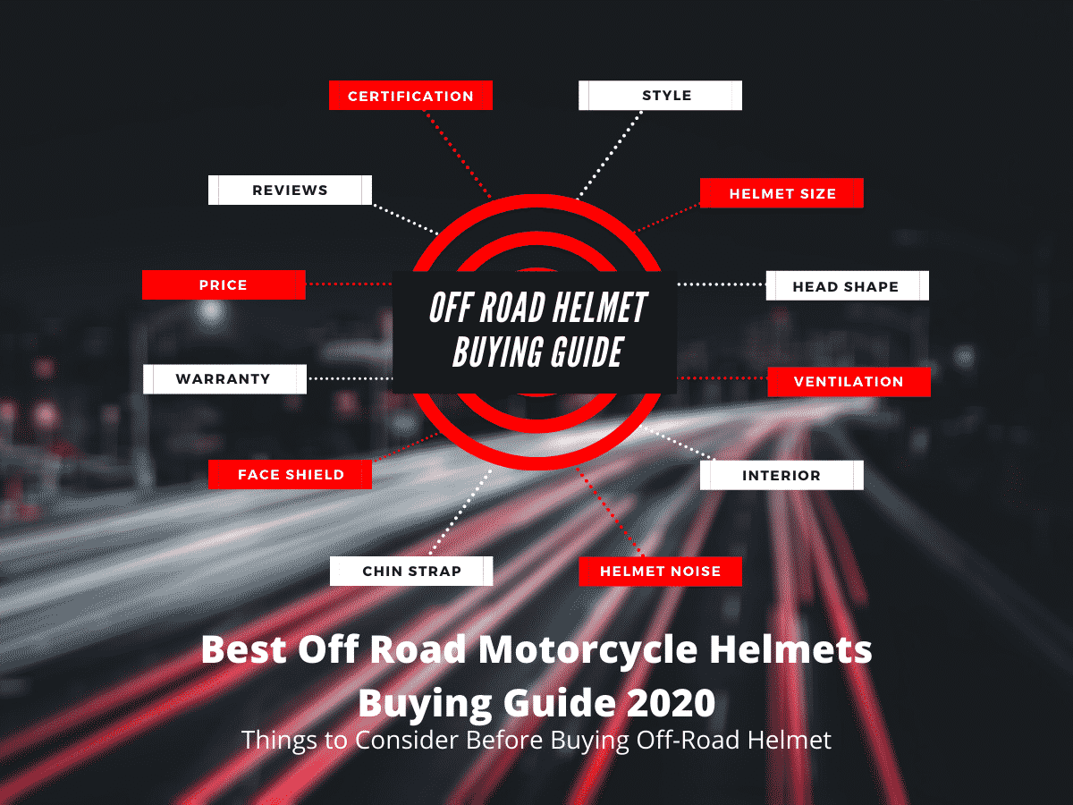 Best Off Road Motorcycle Helmet Buying Guide - Infographic