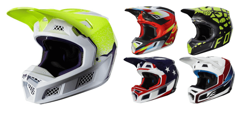Fox Racing V3 Solids Helmet Carbon
