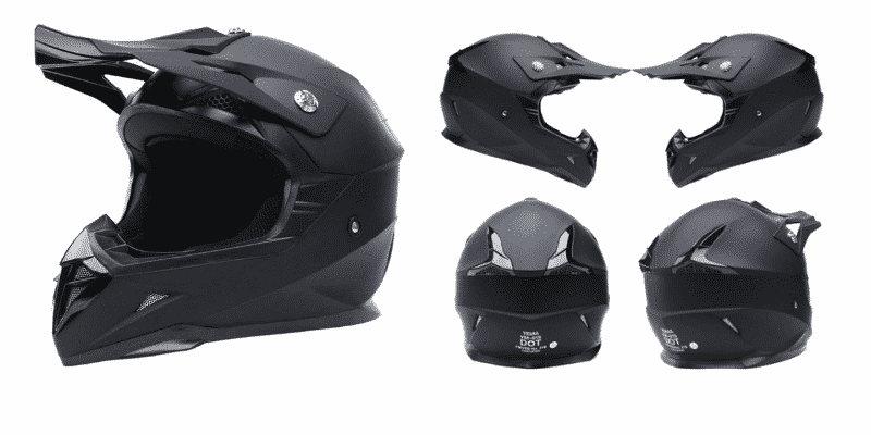 Motorcycle Motocross ATV Helmet DOT Approved - YEMA YM-915 Motorbike Moped Full Face Off Road